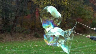 Slow Motion Giant Bubble Bursting 3