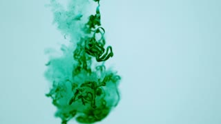 Slow Motion Gooey Green Strands Underwater 1