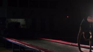 Slow Motion Gymnast - Studio Lighting