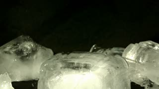 Slow Motion Hammering Ice Block 3