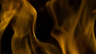 Slow Motion Hot Yellow Flames