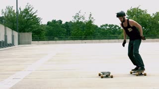 Slow Motion Jumping Longboards