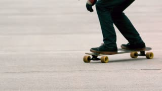 Slow Motion Longboard Pavement Grind