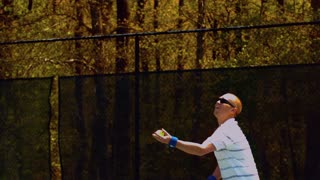 Slow Motion Male Tennis Serve
