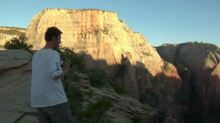 Slow-motion Of Photographer In National Park