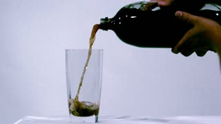 Slow Motion Pouring Dark Cola 2