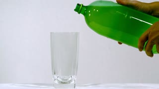 Slow Motion Pouring Yellow Soda 1
