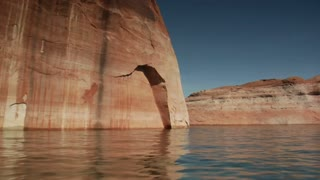 Slow-motion Pov Of Red Cliff Slate, Utah