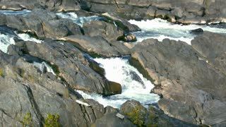 Slow Motion Rapids Among River Rocks