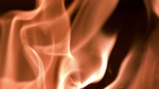 Slow Motion Rising Flames Closeup 1