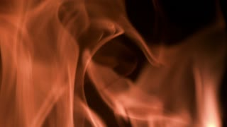 Slow Motion Rising Flames Closeup 2