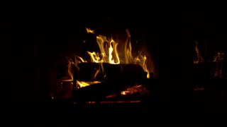 Slow Motion Roaring Fireplace