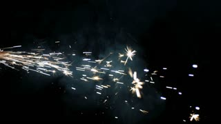 Slow Motion Shooting Sparks