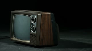 Slow Motion Smashing Old Television
