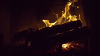 Slow Motion Smoky Fireplace