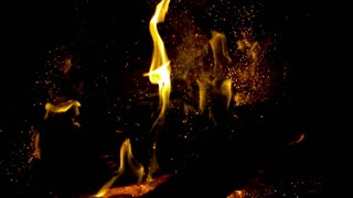 Slow Motion Spewing Embers