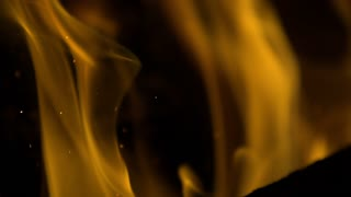 Slow Motion Swirling Embers and Flames