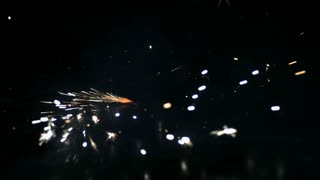 Slow Motion Swirling Sparks