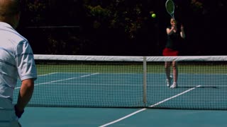 Slow Motion Tennis Forehand Volley 2