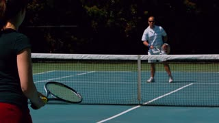 Slow Motion Tennis Forehand Volley 3