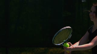 Slow Motion Tennis Serve Closeup 1