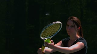 Slow Motion Tennis Serve Closeup 2