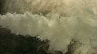 Slow Motion Thick Cloud of Smoke