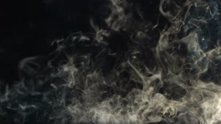 Slow Motion Thin Grey Smoke