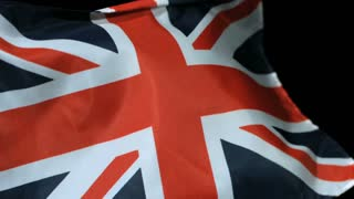 Slow Motion UK Flag in the Wind