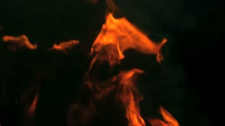 Slow Motion Vanishing Flames