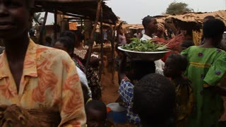 Slow-motion Walk Through African Market