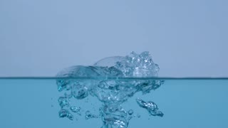 Slow Motion Water Bubbles Bursting