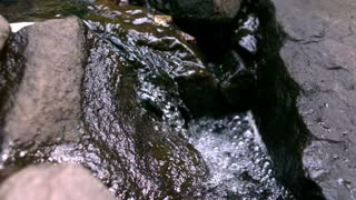 Slow Motion Water inbetween rocks