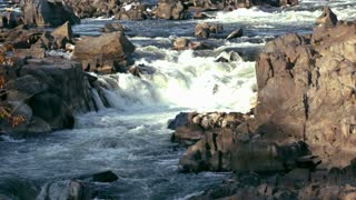 Slow Motion Whitewater River Rapids Wide
