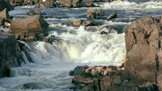 Slow Motion Whitewater River Rapids