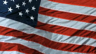 Slow Motion Windy American Flag