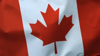 Slow Motion Windy Canadian Flag