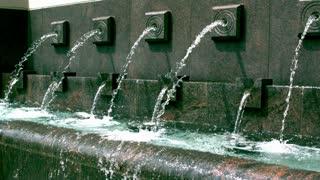 Slow Mountain Row of Fountain Jets