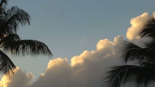 Slow Moving Clouds In Tropical Sky