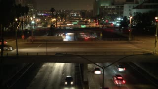 Slow Moving LA Night Traffic