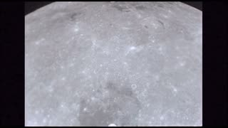 Slow Moving Moon Surface With Craters 2