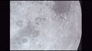 Slow Moving Moon Surface With Craters