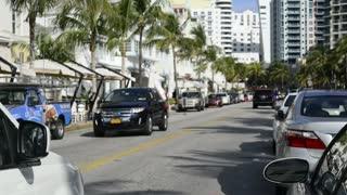Slow Moving Ocean Drive Roadway