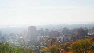 Slow Pan of Montreal Skyline