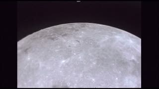 Slow Passing Moon Surface With Giant Craters