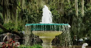 Small Fountain in Savannah Square