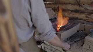 Smith traditional worker. Clip 4.