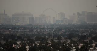 Smoggy Las Vegas Skyline