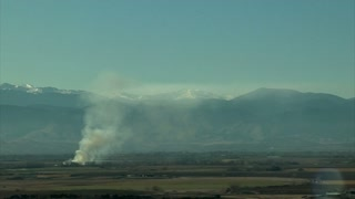 Smoke on the Ground in Mountain Valley