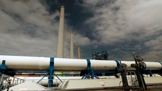 Smokestacks at Ashkelon Seawater Reverse Osmosis Plant